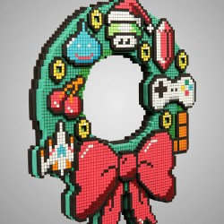 8_bit_holiday_wreath